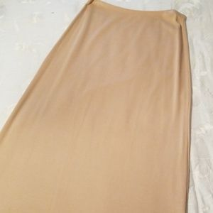 NYC beige maxi skirt